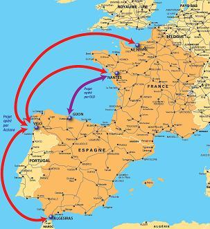 Environnement, lancement des autoroutes de la mer entre la France et l'Espagne