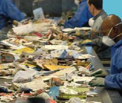 Centre de tri de déchets