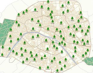 Recyclage des sapins de Noël à Paris