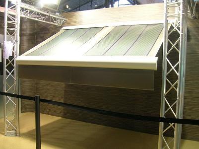 La première toile de store photovoltaïque chez Dickson